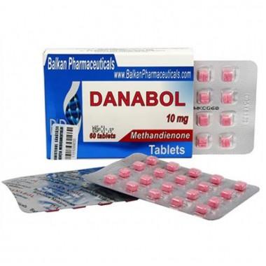 Danabol Данабол Метандиенон Метан 10 мг, 100 таблеток, Balkan Pharmaceuticals в Семее, Семипалатинске