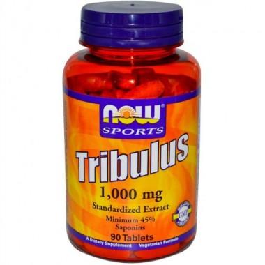 Tribulus Трибулус 1000 мг, 90 таблеток, Now Sports в Семее, Семипалатинске